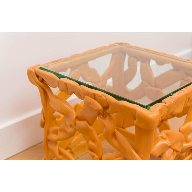 Decorative Resin Side Table For Sale In San Francisco - Image 6 of 7