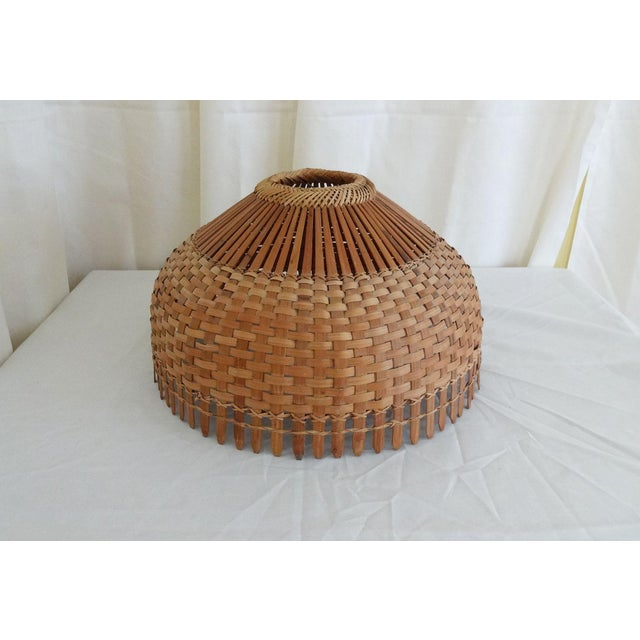Tan 1960s Mid Century Modern Bamboo/Rattan Lampshade For Sale - Image 8 of 8