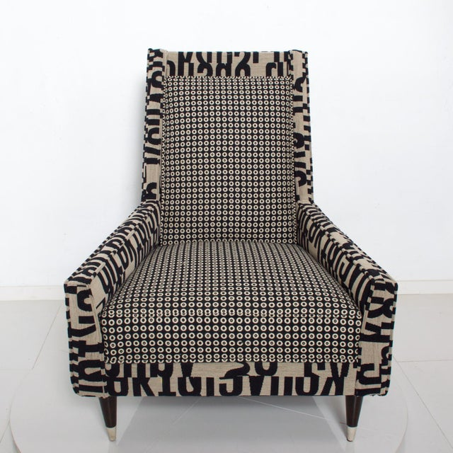 Mid-Century Modern Gio Ponti Style by Arturo Pani Wild Wingback Lounge Chairs Midcentury Pair 1969 For Sale - Image 3 of 10