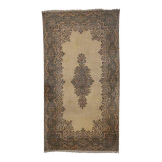 Vintage Persian Kerman Rug with Traditional Style, Kirman Gallery Rug For Sale