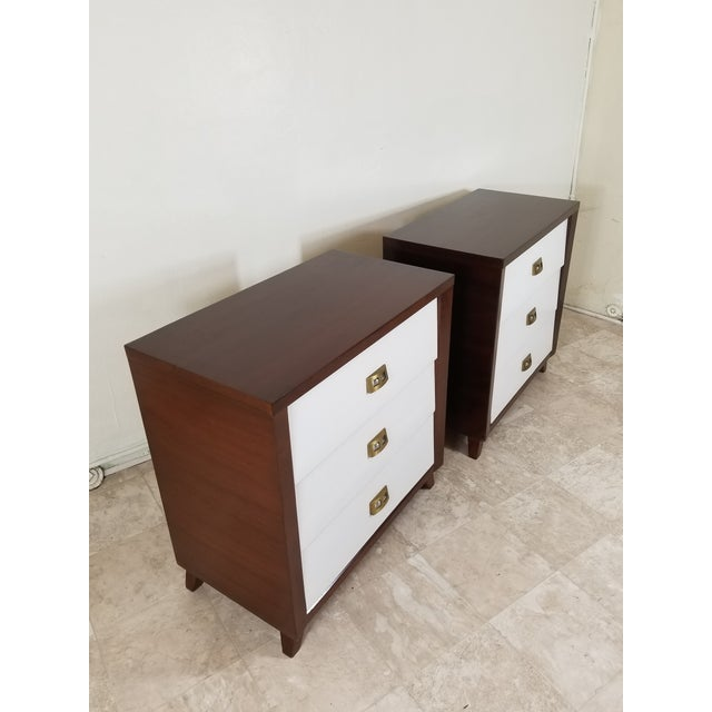 Pair of handsome chest of drawers could be used as nightstands too They've been refinished so they are in perfect shape,...