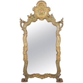 19th Century Venetian Painted Mirror For Sale