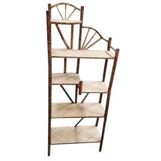 Tiger Bamboo Five-Tier Shelf For Sale
