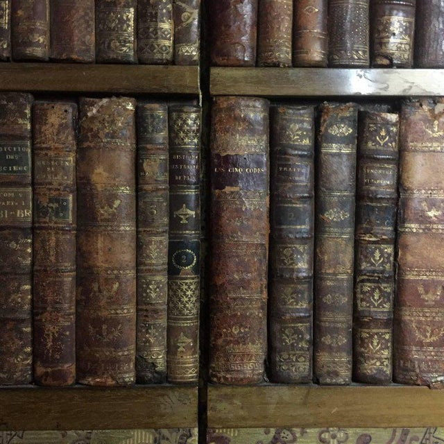 Late 19th Century Late 19th Century Panels of 18th Century French Bookbinds For Sale - Image 5 of 11