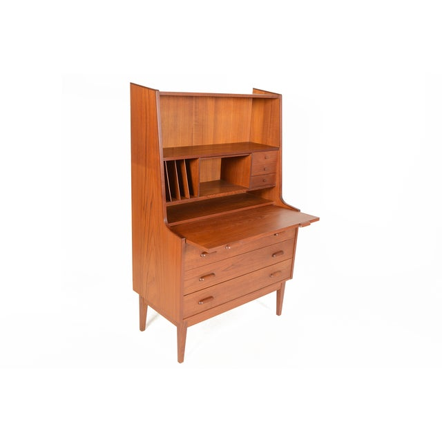 Danish Modern Secretary With Bookcase in Teak - Image 4 of 9