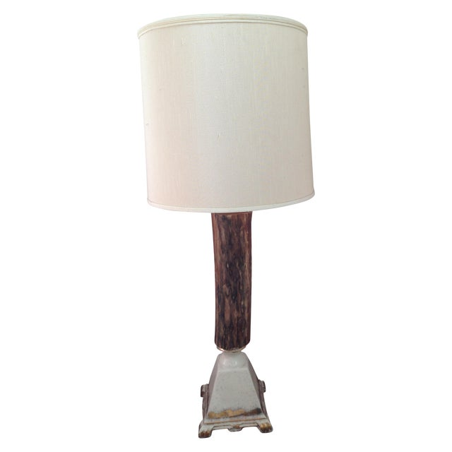 Vintage Rustic Farmhouse Table Lamp - Image 1 of 10