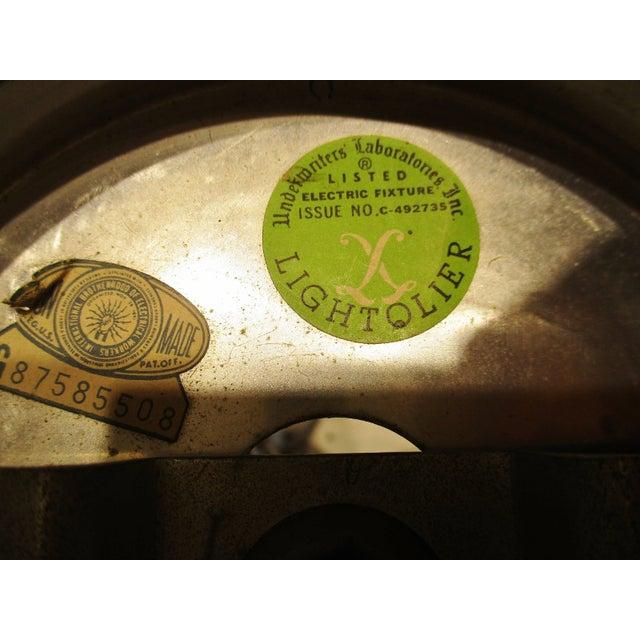 Vintage Gaetano Sciolari Chrome and Brass MCM Chandelier Circa 1950s For Sale - Image 9 of 10