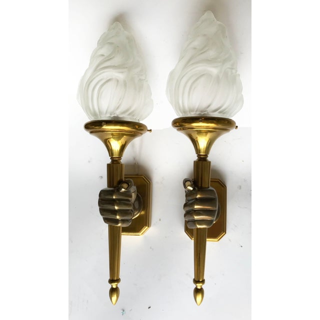Vintage Opposite Hand Maison Bagues Sconces - A Pair - Image 5 of 5