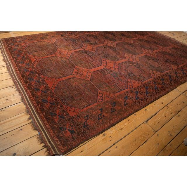 """Red Vintage Ersari Carpet - 7'6"""" X 11'4"""" For Sale - Image 8 of 12"""