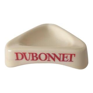 Vintage Mid Century Modern Dubonnet French Milk Glass Bistro Ashtray For Sale