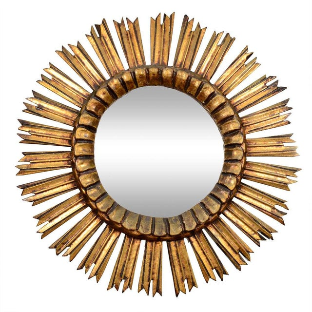 Giltwood Sunburst Mirror For Sale In New York - Image 6 of 6