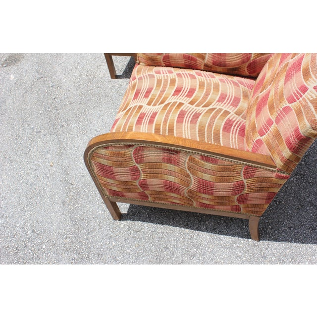 French Art Deco Sold Mahogany Speed Armchairs - A Pair - Image 7 of 11