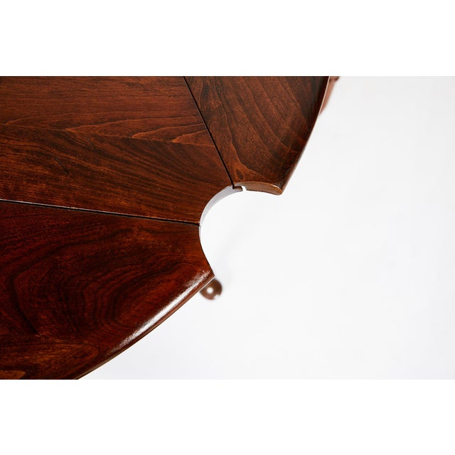 Statton Furniture Pair of Vintage Statton Drop Leaf Tea Tables of Solid Cherry For Sale - Image 4 of 12