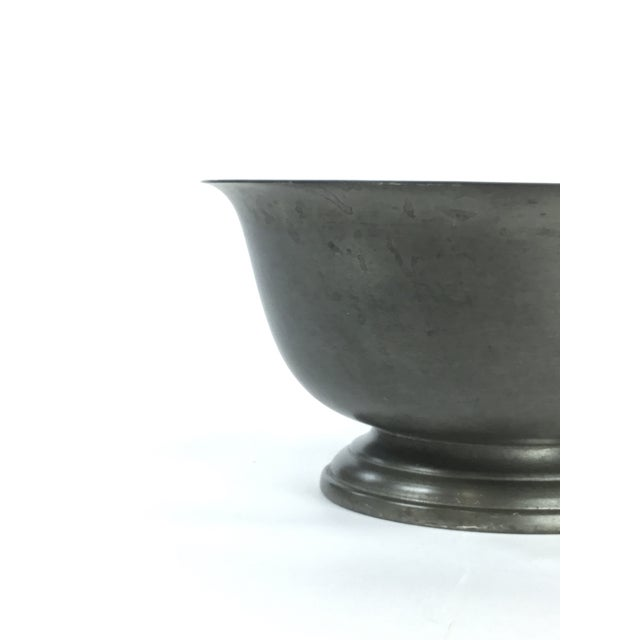 1950s Vintage Poole Silver Co. Pewter Paul Revere Style Bowl For Sale - Image 5 of 8