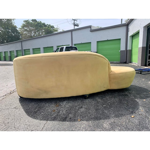Tan Vladimir Kagan Style Serpentine Tan Cloud Sofa For Sale - Image 8 of 11