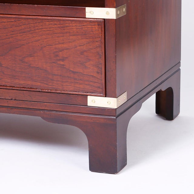 Midcentury Campaign Style Nightstands - A Pair For Sale In West Palm - Image 6 of 10