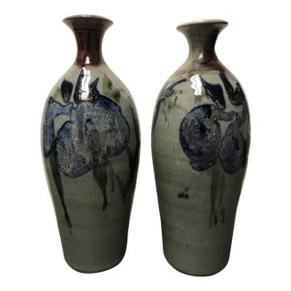 1970s Studio Pottery Vases - a Pair