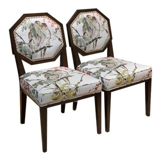 Chaddock Chantal Dining Chairs- A Pair For Sale