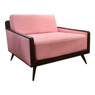 Modern Resource Decor Mid-Century Style Grad Pink Club Chair For Sale