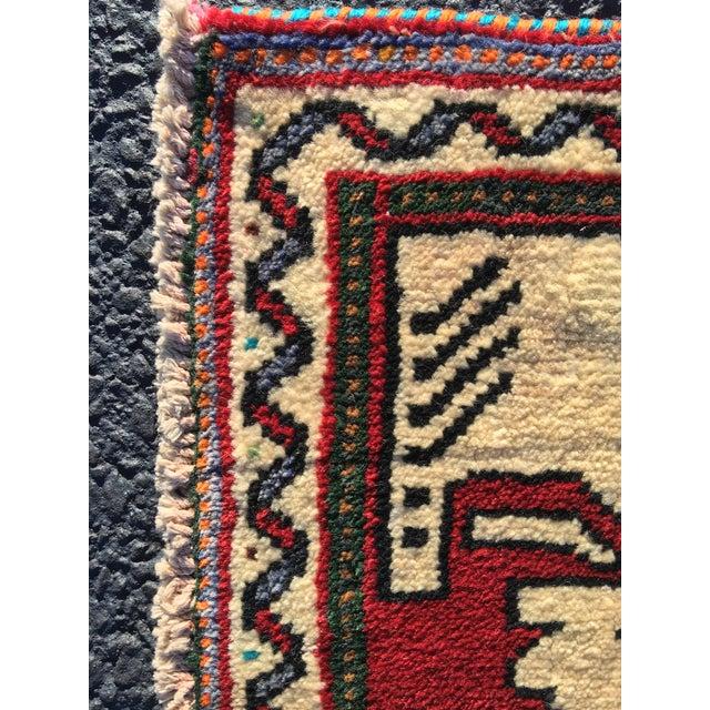 "Vintage Qasghi Persian Rug - 2'1"" x 2' - Image 4 of 7"