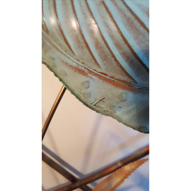 Mid-Century Modern Jere Style Brass Console - Image 8 of 8