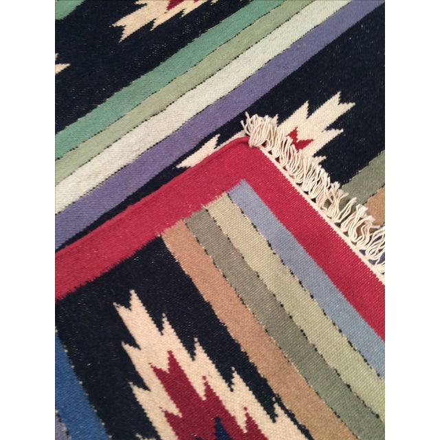 Traditional Hand Woven Reversible Kilim Rug - 4' X 6' For Sale - Image 3 of 3