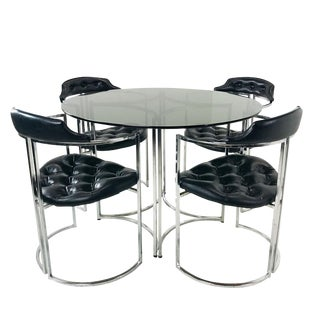 Daystrom Dining Chairs and Table With Smoked Glass For Sale