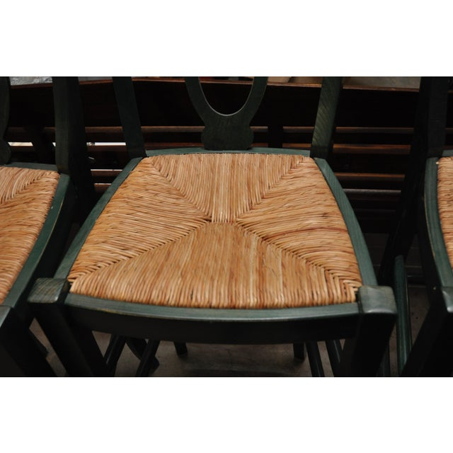 Rush Seat Bar Stools - Set of 4 - Image 2 of 4
