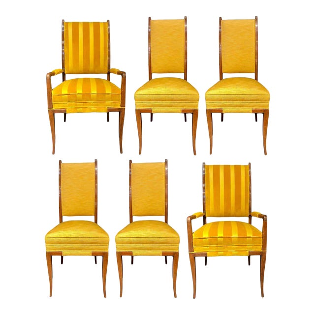 Mid-Century Modern Six Tommi Parzinger Dining Chairs, Originals For Sale