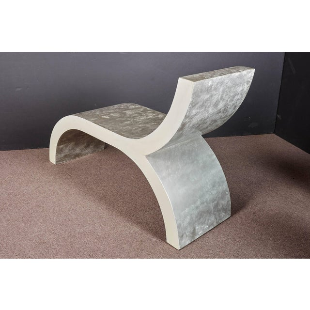 Mid-Century Modern Mid-Century Modern White Lacquered Sculptural Chaise Lounge For Sale - Image 3 of 10