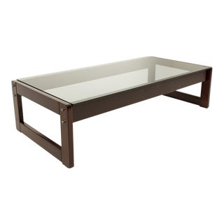 Percival Lafer Brazillian Rosewood Coffee Table For Sale