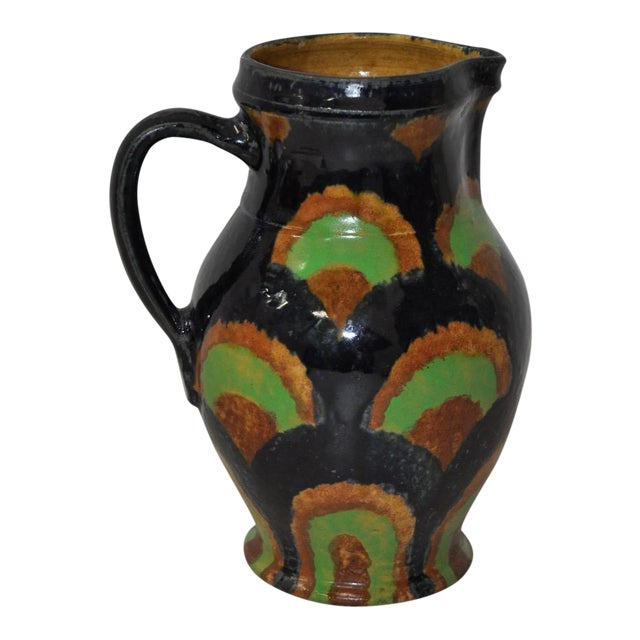 19th Century German Stoneware Hand Made Pitcher - Image 1 of 7