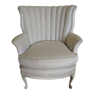 1960's Vintage French Provincial Mint Bergere Chair For Sale