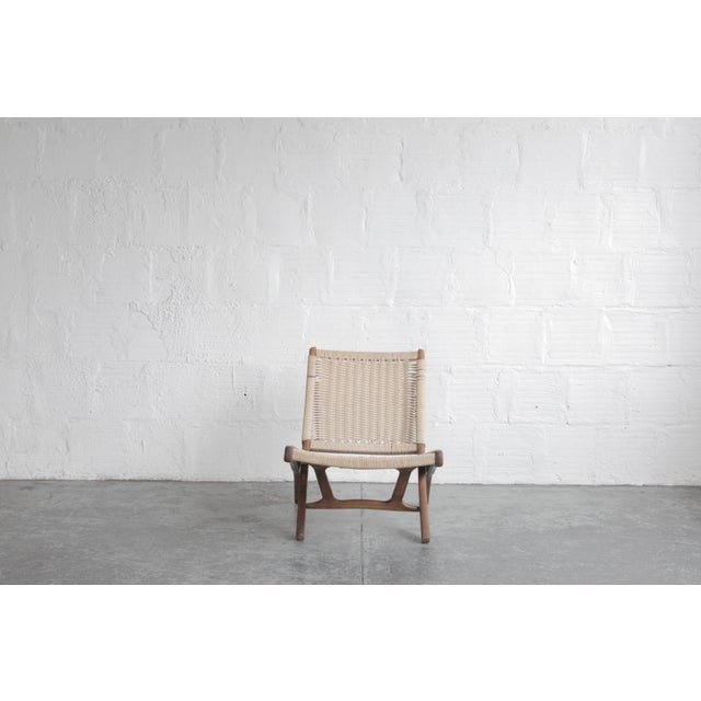 Early 20th Century Early 20th Century Cord Lounge Chair For Sale - Image 5 of 8