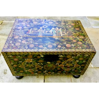19th Century Japanese Hand Painted Lacquered Trunk Preview