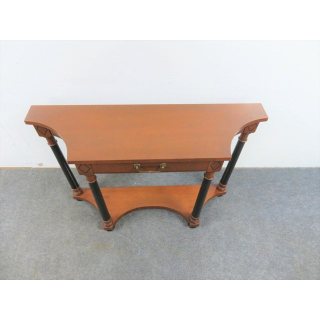 Empire French Empire Hekman Cherrywood Console Table For Sale - Image 3 of 6