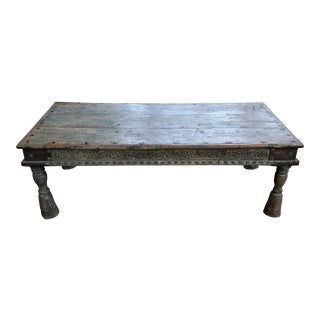 20th Century Indian Teak Coffee Table For Sale
