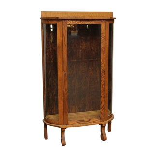20th Century Victorian Ebert Oak China Cabinet For Sale