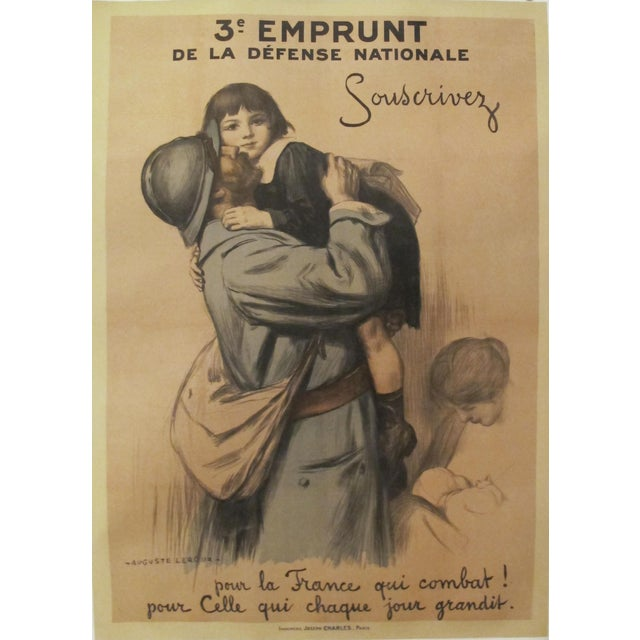 1917 French Vintage WW1 Propaganda Poster, 3e Emprunt For Sale - Image 5 of 5