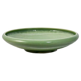 1950s Rookwood Pottery Green Bowl For Sale