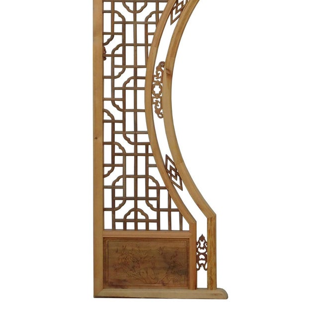Chinese Arch-Shaped Wooden Panels - Set of 3 - Image 3 of 9