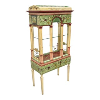 Italian Neoclassical Birdcage Style Vitrine Display Curio Cabinet by Eric Lansdown For Sale