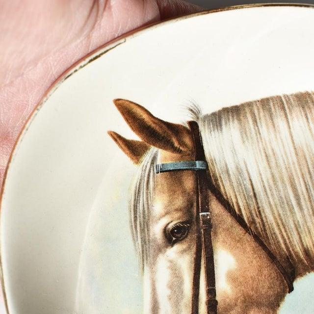 Equestrian Style Ceramic Horse Vide-Poche Decorative Dish or Catch All For Sale - Image 6 of 10