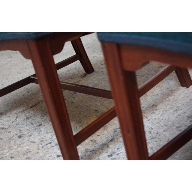 Pair of Danish Modern Sculptural Teak Armchairs For Sale - Image 9 of 10