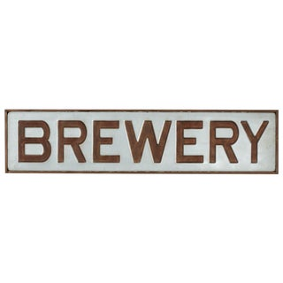 "Rustic Galvanzied ""Brewery"" Sign For Sale"