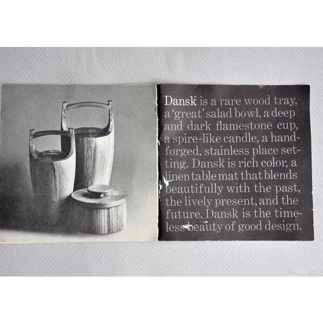"Vintage staved teak ""Congo"" ice bucket designed by Jens Quistgaard for Dansk. The interior is has a black plastic liner..."