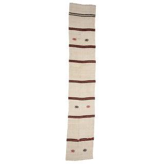 Striped Vintage Hemp Kilim Runner-2′4″ × 12′10″ For Sale