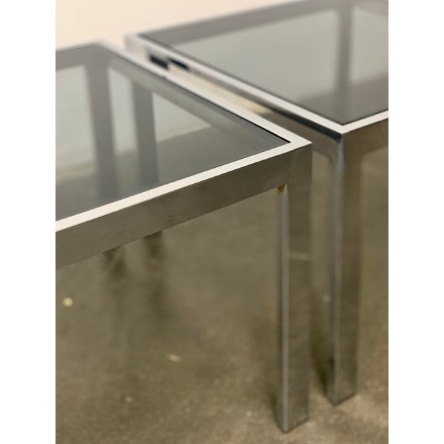 Mid-Century Modern 1970s Milo Baughman Side Tables - a Pair For Sale - Image 3 of 10