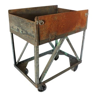 Early 20th C. Vintage American Metal Bar Cart For Sale