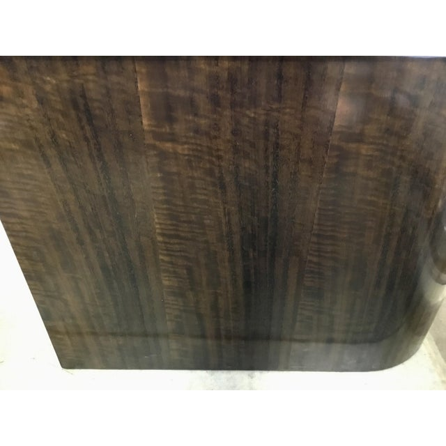 Modern Caracole Modern Zephyr Wood and Stone Side Table For Sale - Image 3 of 4